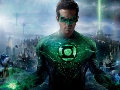 "Ryan Reynolds in a scene from ""Green Lantern."""