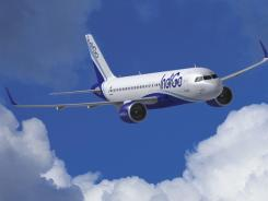 This computer image provided by Airbus Jan. 12, 2011, shows a A320neo jet.