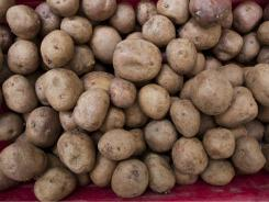 The study linked eating potatoes with gaining weight.