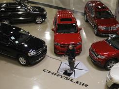 Chrysler Group CEO Sergio Marchionne addresses the media at the automaker's Jefferson North Assembly Plant in Detroit on April 28.