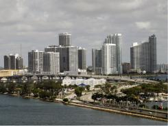 The Miami skyline. Miami appears on the list of many foreign real estate buyers.