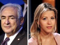 A combination of two images shows former International Monetary Fund chief Dominique Strauss-Kahn in 2011 and  a picture taken in 2004 of French journalist and writer Tristane Banon, who says she was assaulted by Strauss-Kahn.