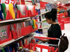 A parent shops for back-to-school needs in a Target store Aug. 29, 2006 in Chicago.