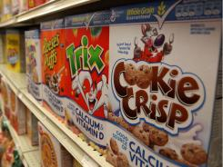 Boxes of cereal made by General Mills sit on the shelf at a grocery store September 23, 2009 in Berkeley, California.