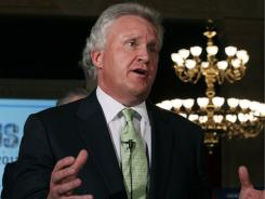 CEO of General Electric Jeffrey Immelt speaks to the media during the second annual jobs summit, on July 11, 2011 in Washington, DC.