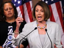 House Minority Leader Rep. Nancy Pelosi and members of the Women of Democratic Caucus have called on the Republicans not to cut the Social Security and Medicare benefits.