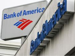 The Bank of America logo is displayed on the side of a Bank of America branch in San Francisco, California, January 20, 2010.