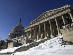 The U.S. Capitol and its Senate chamber.