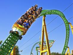 The Cheetah Hunt roller coaster at Busch Gardens, Tampa, Fla.