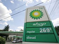 A BP station in Mount Lebanon, Pa., is shown on June 10, 2010.