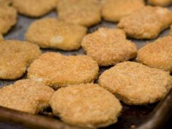 Chicken nuggets, fresh from the oven, are shown here on May 2, 2010.