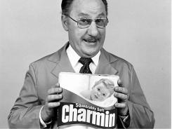 Actor Dick Wilson as Mr. Whipple for Charmin bathroom tissue.