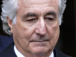Bernie Madoff exits Manhattan federal court in New York on March 10, 2009.