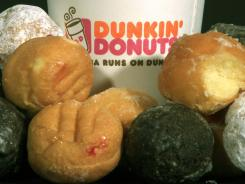 Dunkin' Donuts products are displayed in Montpelier, Vt., on July 27, 2011.
