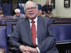 Warren Buffett at the White House briefing room on Monday. He had just met with President Obama to discuss the Giving Pledge program.