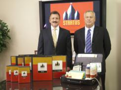 Pete Frese, president and COO, left, and Dennis Jarrett, CEO, lead Stratus Building Solutions out of their St. Louis-area headquarters. The commercial cleaning company relies on franchising to sustain their rapid growth.