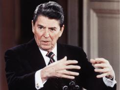 Then-President Reagan in January 1986.