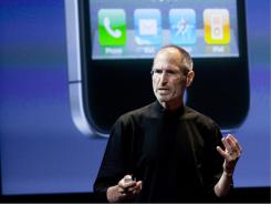 Steve Jobs, CEO of Apple, at a 2010 news conference.