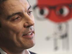 AOL CEO Tim Armstrong speaks during an interview with The Associated Press at AOL headquarters in New York on April 22, 2011.