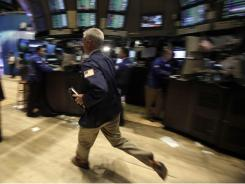 The floor of the New York Stock Exchange at the closing bell on Aug. 9.