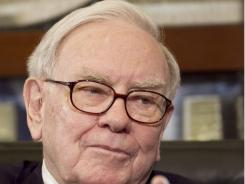 Warren Buffett, Chairman and CEO of Berkshire Hathaway, during an interview, in Omaha in May.
