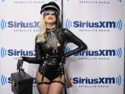 "Happy Holidays. Lady Gaga visits ""The Morning Mash Up"" on SiriusXM in July."
