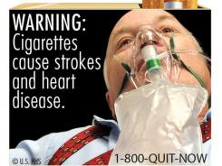 One of nine warning labels cigarette makers will have to use by the fall of 2012.
