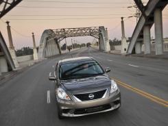 The 2012 Nissan Versa sedan.