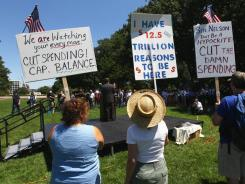 Tea Party activists at a Capitol Hill rally this summer.