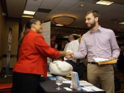 At a job fair Aug. 16 in Independence, Ohio.