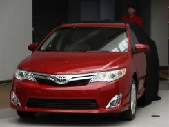 The 2012 Toyota Camry is unveiled Tuesday during a news conference in Dearborn, Mich.
