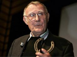 The founder of Swedish do-it-yourself furniture giant IKEA, Ingvar Kamprad, in 2004.