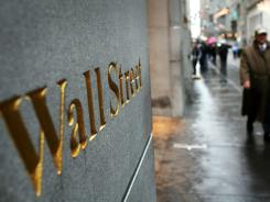 Wall Street in lower Manhattan.