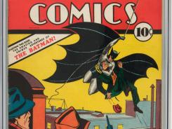Detail of Detective Comics No. 27 from 1939. A copy of the issue, which features Batman's debut, sold for nearly $1.1 million.