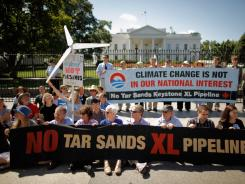 Opponents view the proposed pipeline, which would bring tar sands oil to the U.S. from Canada,  as a litmus test of President Obama's commitment to fight climate change.