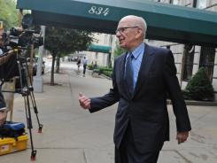 News Corp. head Rupert Murdoch outside his Fifth Avenue residence July 21 in New York City.