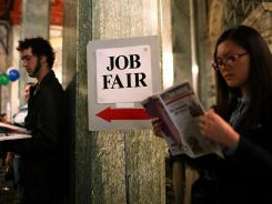 A job fair in San Francisco on July 12.