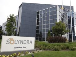 Solyndra headquarters in Fremont, Calif.