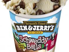 Ben & Jerry's takes the lid off of its newest flavor: Schweddy Balls.