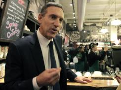 CEO Howard Schultz in December 2010 at a Starbucks shop in New York City's Soho section.