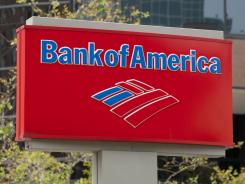 A Bank of America sign outside a branch in Arlington, Va.