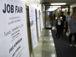A job fair Thursday at the Suffolk County One Stop Employment Center in Hauppauge, New York.