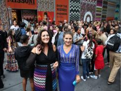 Designer Angela Missoni. left, and Margherita Maccapani Missoni in front of a Missoni for Target display at a Target in New York City.