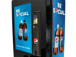 "Pepsi's Be Social machine allows you to ""gift""  a drink to a friend."