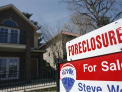 A foreclosure sign in Denver.