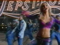 Pepsi's new ad includes clips from previous spots featuring superstars like Britney Spears.