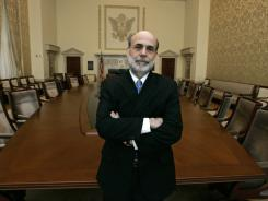 Federal Reserve Board Chairman Ben Bernanke in the board room at  Federal Reserve headquarters in Washington. File photo.