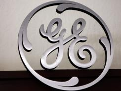 A General Electric sign is seen on display at Western Appliance store in Mountain View, Calif.