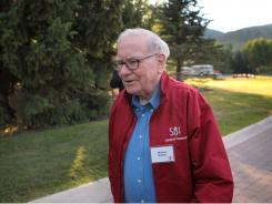 Warren Buffett, chairman of Berkshire Hathaway, outside the Allen & Company conference July 7 in Sun Valley, Idaho.
