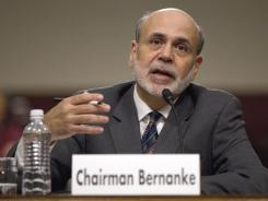 Federal Reserve Chairman Ben Bernanke testifies on Oct. 4, 2011, before the Joint Economic Committee.